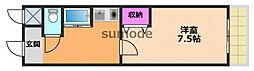 ステュディオYURI 1階1Kの間取り
