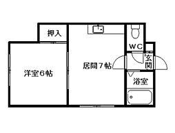 T・HOUSE[201号室]の間取り