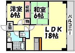 大阪府堺市西区菱木1丁の賃貸マンションの間取り
