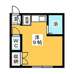 ユーシティII[2階]の間取り