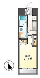 パークアクシス東別院[9階]の間取り