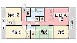 リベール姫路駅前II[601.号室]の間取り