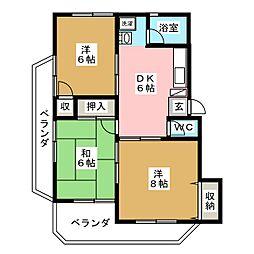 寺崎ハイツ[3階]の間取り