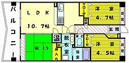 JGMエーマス和白駅前[5階]の間取り