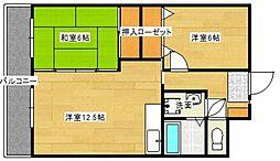 アネックス3[6階]の間取り