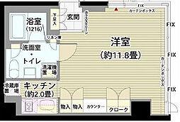 東京都世田谷区砧2丁目の賃貸マンションの間取り