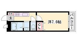JR姫新線 余部駅 バス9分 東洋大姫路高校前停下車 徒歩3分の賃貸アパート 1階1Kの間取り
