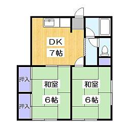 ハイツ野崎2[2階]の間取り