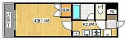 福岡県北九州市小倉北区上富野4丁目の賃貸マンションの間取り