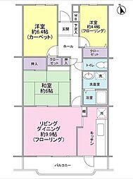 神奈川県横浜市保土ケ谷区狩場町の賃貸マンションの間取り