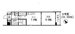 千葉県船橋市湊町2丁目の賃貸マンションの間取り