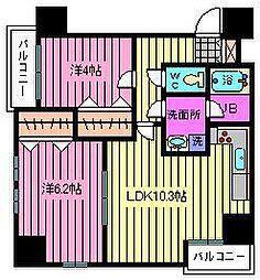 ビコーズ大宮2[702号室]の間取り