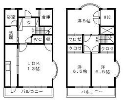 [タウンハウス] 静岡県浜松市中区上島1丁目 の賃貸【静岡県 / 浜松市中区】の間取り