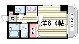 エスポワール三宮[8階]の間取り