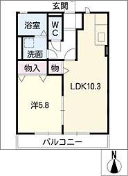 翠風荘[1階]の間取り