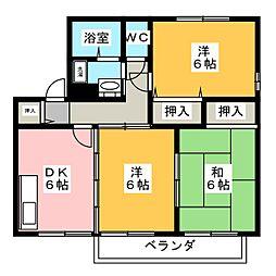 メルベーユ 壱番館[2階]の間取り
