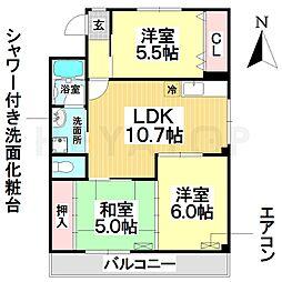 愛知県名古屋市南区北頭町2丁目の賃貸マンションの間取り