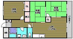鳴尾館[3階]の間取り