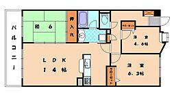 のむら名島ヒルズ[3階]の間取り