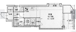 広島電鉄1系統 中電前駅 徒歩10分の賃貸マンション 8階1Kの間取り