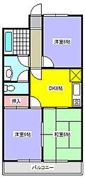 埼玉県北本市北本1丁目の賃貸マンションの間取り