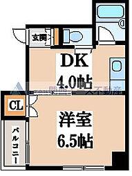 メイツ松屋町[2階]の間取り