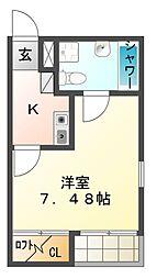 eagle HONJIN[2階]の間取り