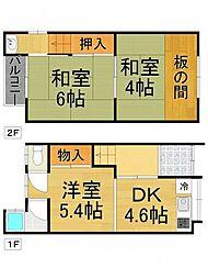 [テラスハウス] 兵庫県尼崎市常光寺1丁目 の賃貸【/】の間取り