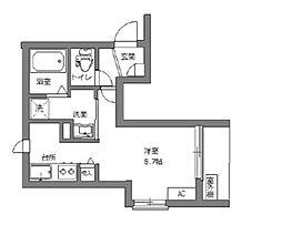 東京メトロ丸ノ内線 新宿三丁目駅 徒歩5分の賃貸マンション 4階ワンルームの間取り