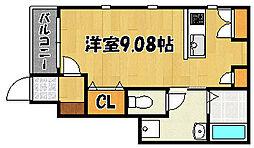 兵庫県明石市東藤江2丁目の賃貸アパートの間取り