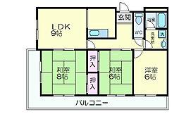 サンワロイヤルマンション2号館[315号室]の間取り