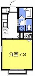 リバーサイドハイツII[205号室号室]の間取り