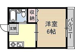 ピットイン稲葉[2階]の間取り