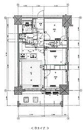 東京メトロ丸ノ内線 新宿御苑前駅 徒歩5分の賃貸マンション 13階3LDKの間取り