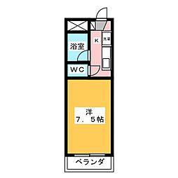 ステーションモンパルナス[2階]の間取り