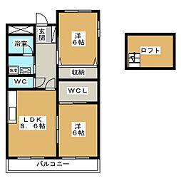 アートヒルズ黒笹[3階]の間取り