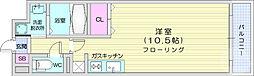 仙台市営南北線 泉中央駅 4.1kmの賃貸マンション 4階ワンルームの間取り