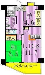 フォーエレメンツ竹の塚[6階]の間取り