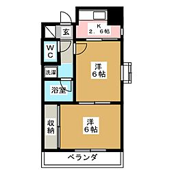 ロイヤルヒルズ成田町[1階]の間取り