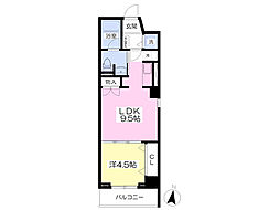 JR常磐線 いわき駅 バス9分 三島神社下車 徒歩2分の賃貸マンション 3階1LDKの間取り