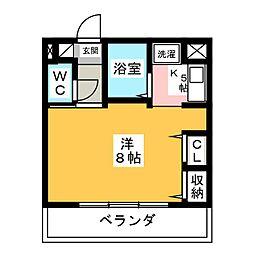 愛知県名古屋市西区児玉2丁目の賃貸マンションの間取り