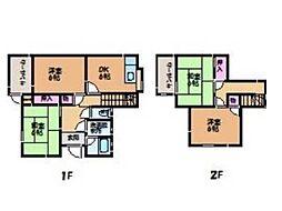 [一戸建] 愛媛県松山市西垣生町 の賃貸【愛媛県 / 松山市】の間取り