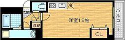 Osaka Metro今里筋線 新森古市駅 徒歩5分の賃貸マンション 3階ワンルームの間取り