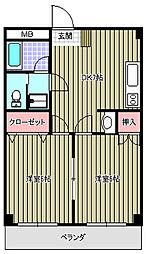 アユミビル[302号室]の間取り