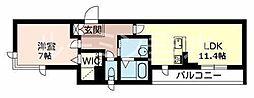 カーサグラスB[305号室]の間取り