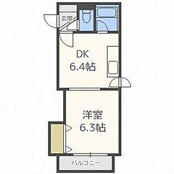 北海道札幌市北区北二十六条西8丁目の賃貸マンションの間取り