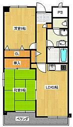 サンサーラ21[2階]の間取り