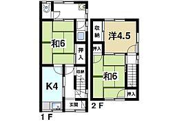 [一戸建] 奈良県奈良市若葉台4丁目 の賃貸【/】の間取り