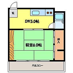 滋賀県大津市長等3丁目の賃貸マンションの間取り