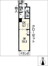 フローラル泉[3階]の間取り